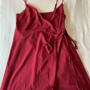 Burgundy flowy dress